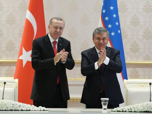 """""""Türkiye ile Özbekistan arasındaki stratejik ortaklığımızı güçlendirecek adımları attık"""""""