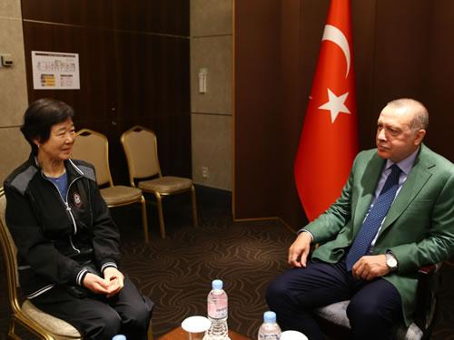 Cumhurbaşkanı Erdoğan, Ayla filminin gerçek kahramanı Eunja Kim'i kabul etti