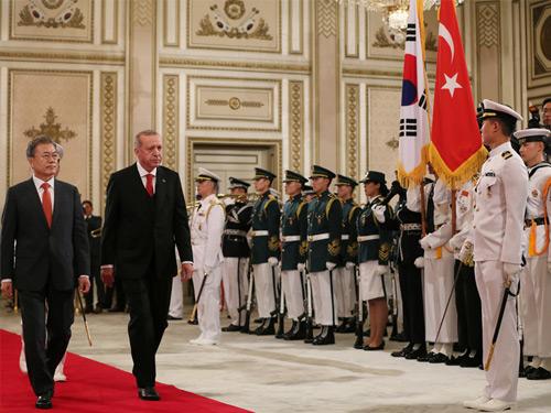 Cumhurbaşkanı Erdoğan, Güney Kore Cumhurbaşkanlığı Sarayında