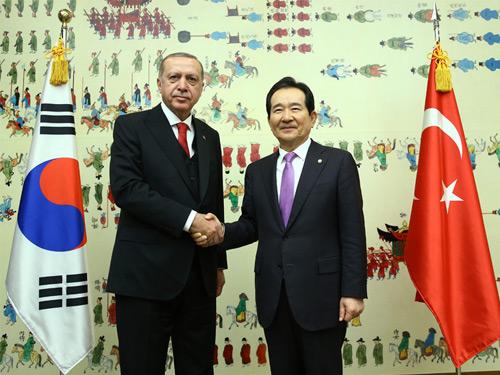 Cumhurbaşkanı Erdoğan, Güney Kore Ulusal Meclisi'ni ziyaret etti