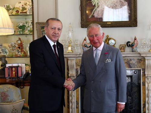 Cumhurbaşkanı Erdoğan, Galler Prensi Charles ile görüştü