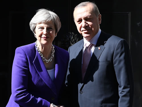 President Erdoğan meets with UK Prime Minister May
