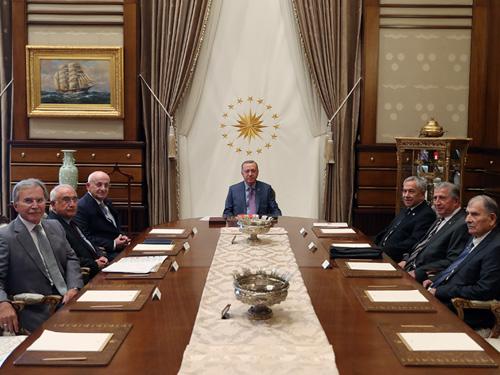 T.C.CUMHURBAŞKANLIĞI : Cumhurbaşkanlığı Yüksek İstişare Kurulu Cumhurbaşkanı  Erdoğan başkanlığında toplandı