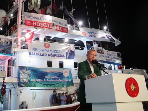 """""""Milletimizin ve Kıbrıs Türklerinin denizlerdeki haklarını sonuna kadar savunmakta kararlıyız"""""""