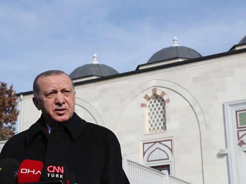 Cumhurbaşkanı Erdoğan, Cuma namazını Ömer Öztürk Camii'nde kıldı