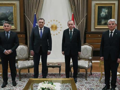 Bosna Hersek Devlet Başkanlığı Üyeleri Cumhurbaşkanlığı Külliyesinde